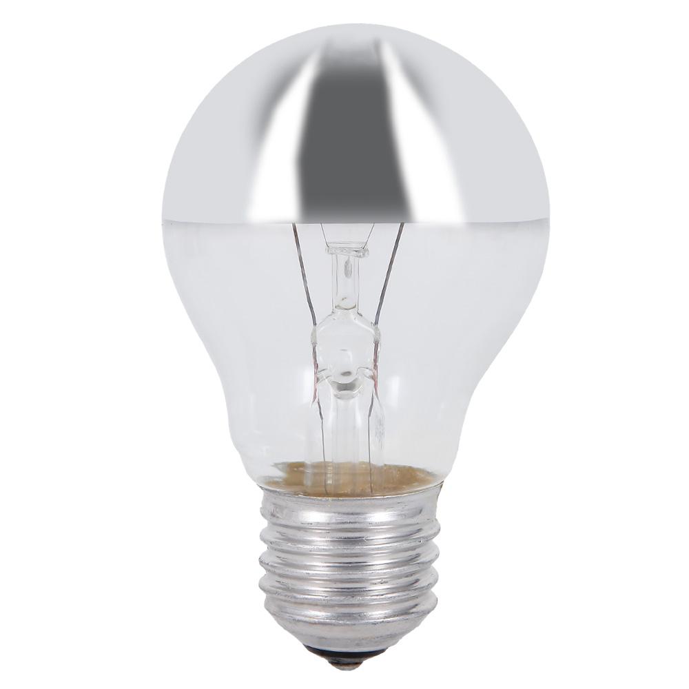 a60 e27 sto festes leuchtmittel kopfverspiegelt in silber. Black Bedroom Furniture Sets. Home Design Ideas