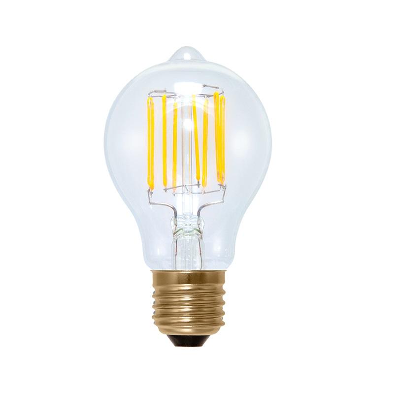 a60 led 6 5 watt e27 filament 2200k edison bauform klar dimmbar wohnlicht. Black Bedroom Furniture Sets. Home Design Ideas