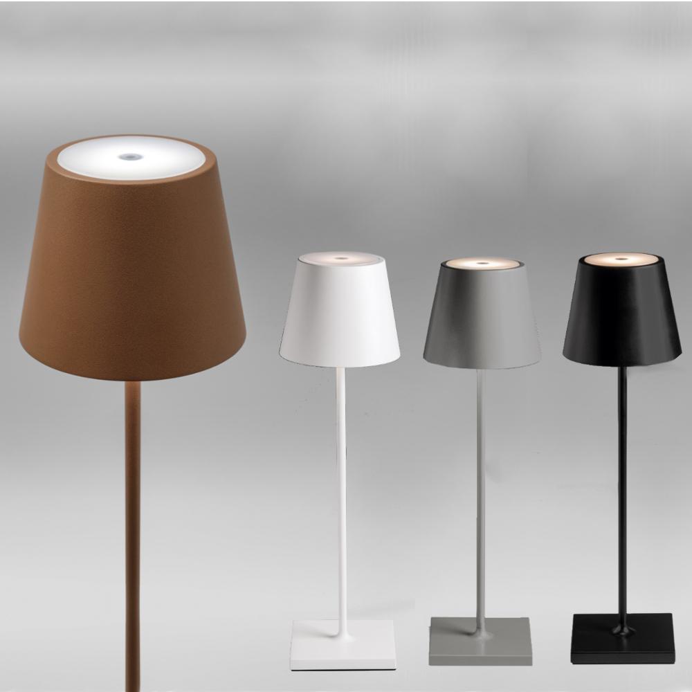akku led tischleuchte in 4 farben f r innen und au en. Black Bedroom Furniture Sets. Home Design Ideas