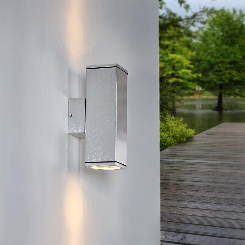 up and down led wandleuchte aluminium geb rstet inklusive leuchtmittel wohnlicht. Black Bedroom Furniture Sets. Home Design Ideas