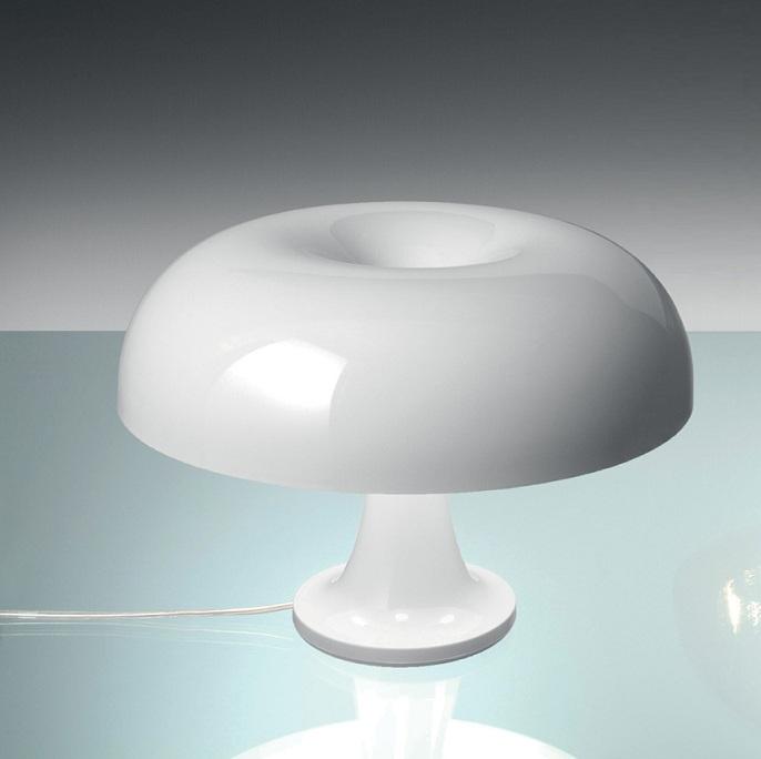 Artemide Nessino Tischleuchte In Weiß Weiß