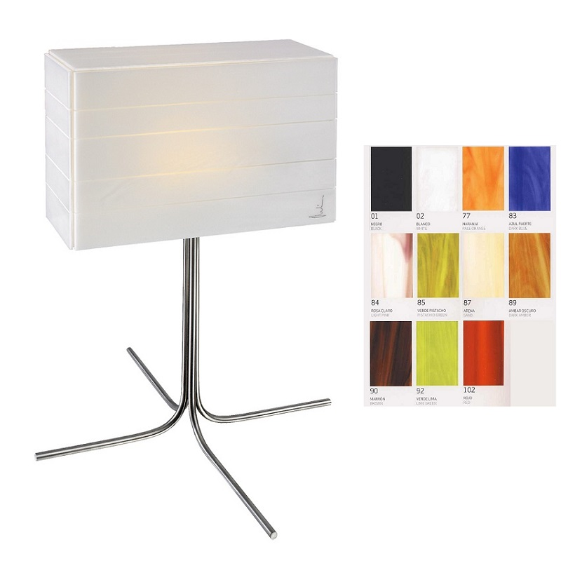 arturo alvarez tischleuchte norman 11 farben w hlbar wohnlicht. Black Bedroom Furniture Sets. Home Design Ideas