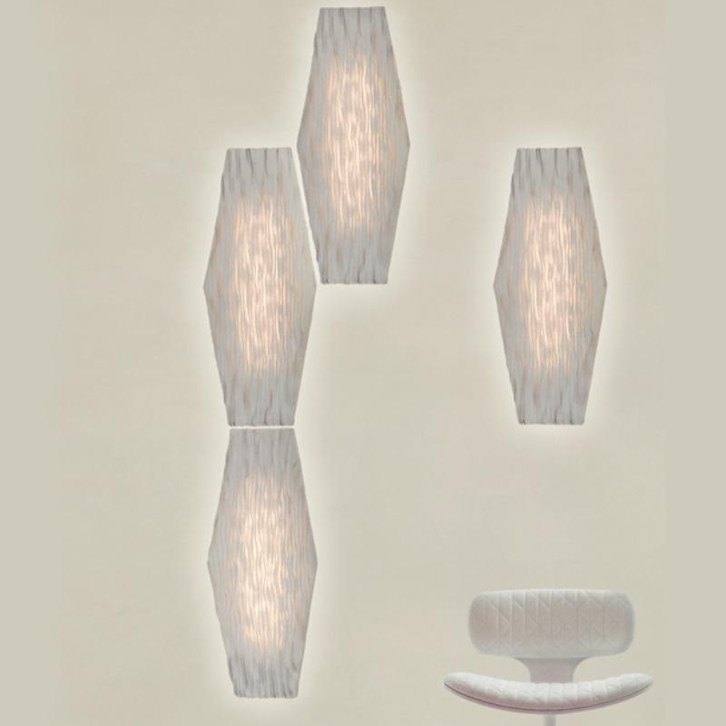 arturo alvarez wandleuchte hexa silikon nicht dimmbar wohnlicht. Black Bedroom Furniture Sets. Home Design Ideas