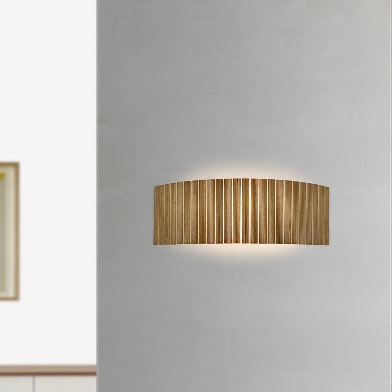 arturo alvarez wandleuchte shio 3 holzfarben w hlbar wohnlicht. Black Bedroom Furniture Sets. Home Design Ideas