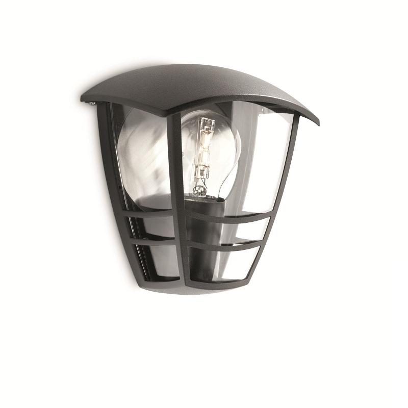au enwandleuchte creek in schwarz mit klarem acrylglas schwarz wohnlicht. Black Bedroom Furniture Sets. Home Design Ideas