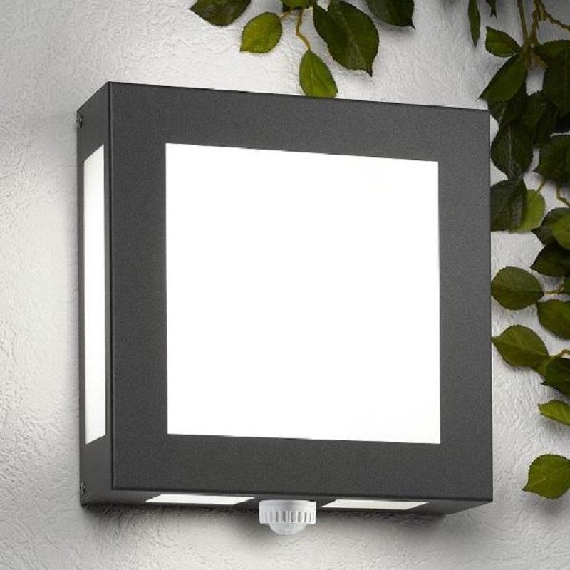 au enwandleuchte mit bewegungsmelder in anthrazit pulverbeschichtet wohnlicht. Black Bedroom Furniture Sets. Home Design Ideas