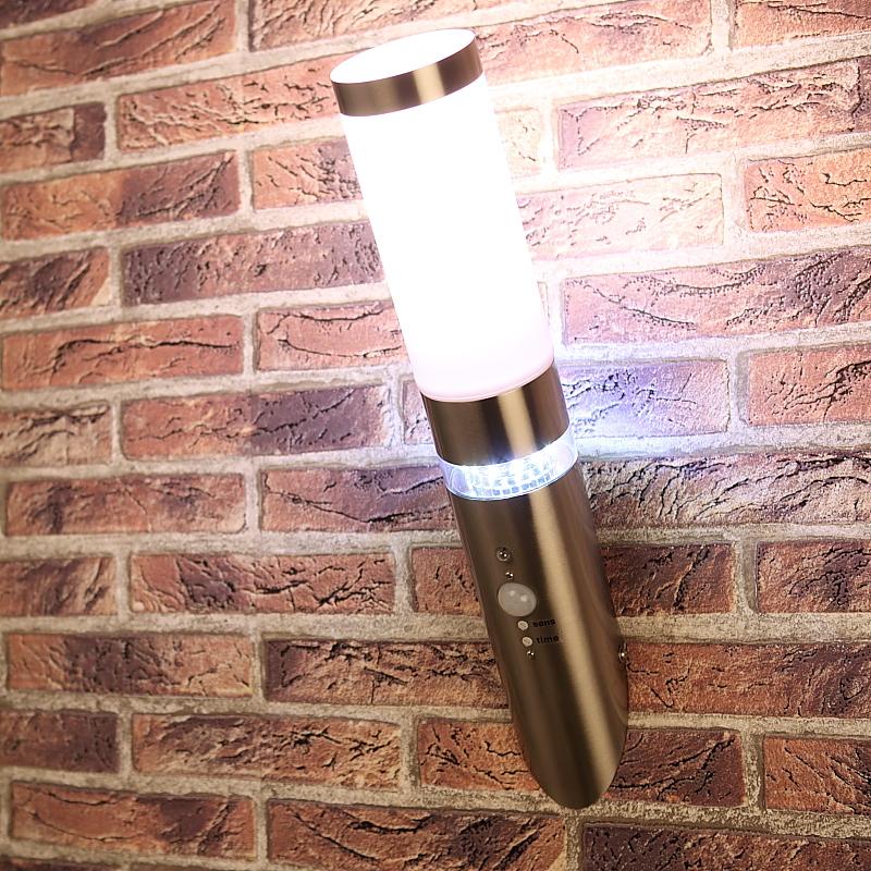 au enwandleuchte mit led beleuchtung und bewegungsmelder wohnlicht. Black Bedroom Furniture Sets. Home Design Ideas