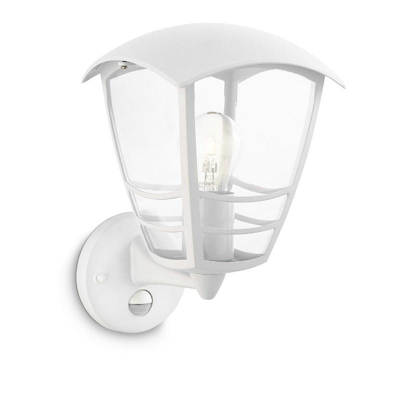 au en wandleuchte wei mit bewegungsmelder ja mit sensor wohnlicht. Black Bedroom Furniture Sets. Home Design Ideas