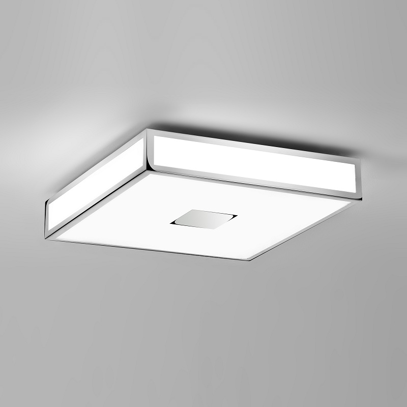 badezimmer deckenleuchte 40 x 40 cm chrom 4x 40 watt silber wei chrom wohnlicht. Black Bedroom Furniture Sets. Home Design Ideas