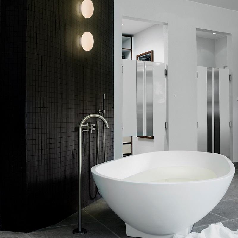 badezimmer leuchte aus opalglas inklusive g9 33watt. Black Bedroom Furniture Sets. Home Design Ideas