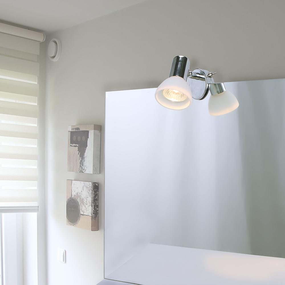 Badezimmer spiegelleuchte 3er set aquatic mit glas wohnlicht - Spiegelleuchte badezimmer ...