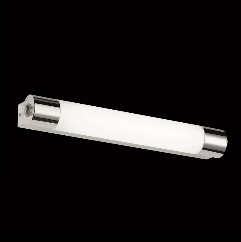 bad leuchte mit steckdose ip44 in chrom 1x 6 watt 44 00 cm wohnlicht. Black Bedroom Furniture Sets. Home Design Ideas