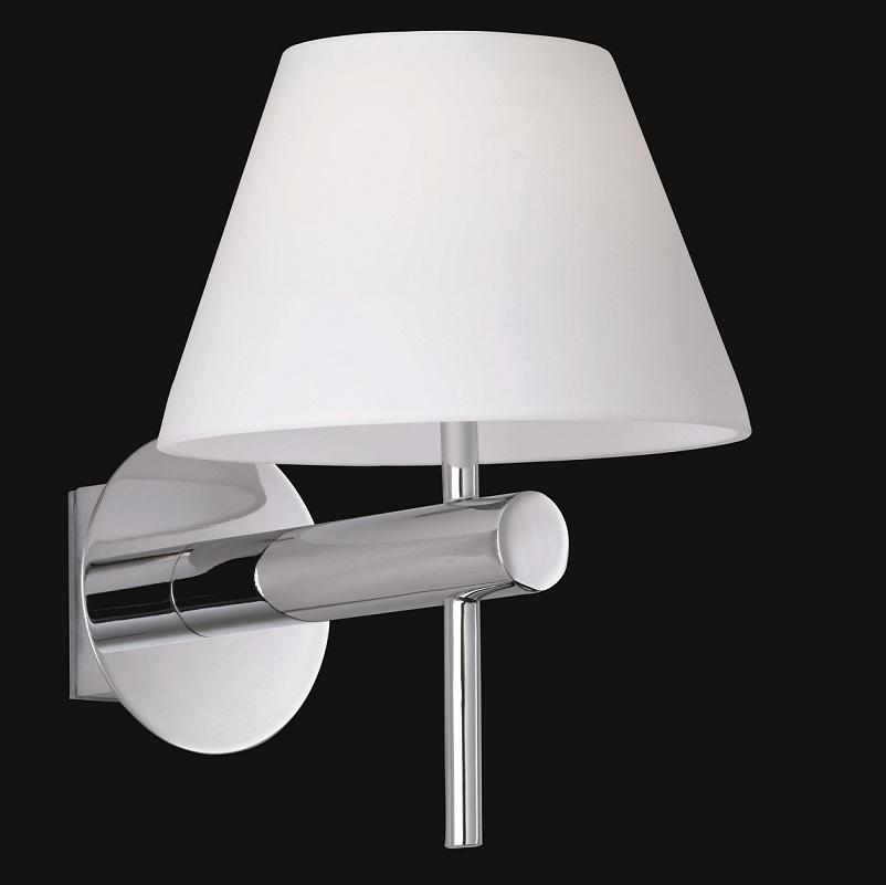 bad wandleuchte ip44 in chrom opalem glas wohnlicht. Black Bedroom Furniture Sets. Home Design Ideas