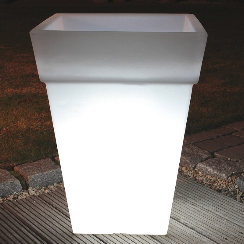 beleuchteter blumentopf h he 68cm wohnlicht. Black Bedroom Furniture Sets. Home Design Ideas