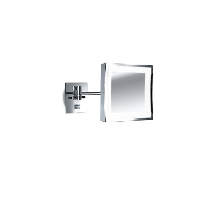 beleuchteter kosmetikspiegel mit 3 fach vergr erung chrom wohnlicht. Black Bedroom Furniture Sets. Home Design Ideas