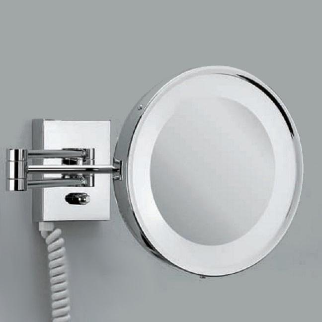 beleuchteter kosmetikspiegel mit stecker und steckdose. Black Bedroom Furniture Sets. Home Design Ideas