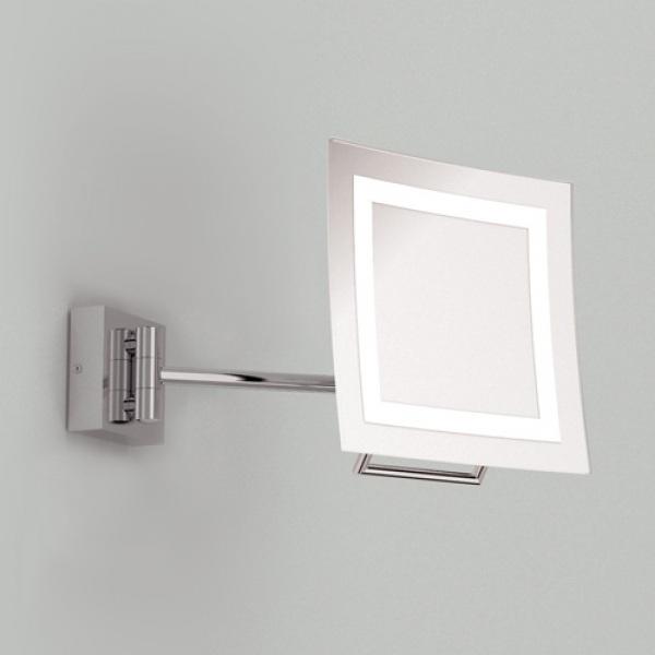 beleuchteter kosmetikspiegel niro in chrom zugschalter wohnlicht. Black Bedroom Furniture Sets. Home Design Ideas