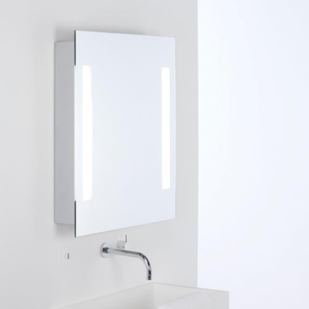 beleuchteter spiegel mit zugschalter 70x60cm wohnlicht. Black Bedroom Furniture Sets. Home Design Ideas