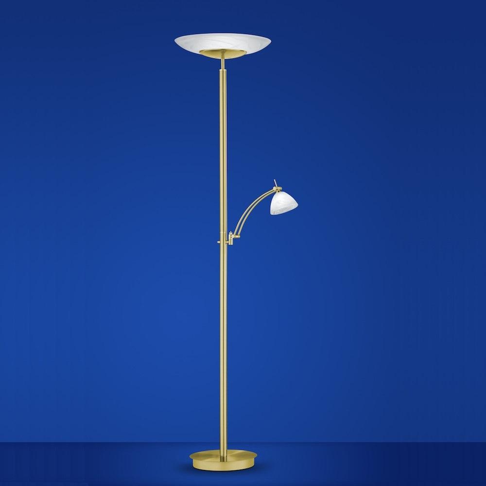 b leuchten led fluter falun messing matt poliert wohnlicht. Black Bedroom Furniture Sets. Home Design Ideas