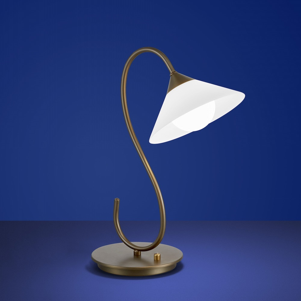 b leuchten led tischleuchte bianca braun kugeleinsatz wohnlicht. Black Bedroom Furniture Sets. Home Design Ideas
