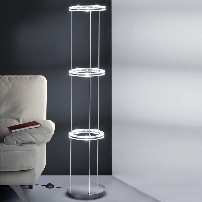 b leuchten moderne led stehleuchte mit fu trittdimmer wohnlicht. Black Bedroom Furniture Sets. Home Design Ideas