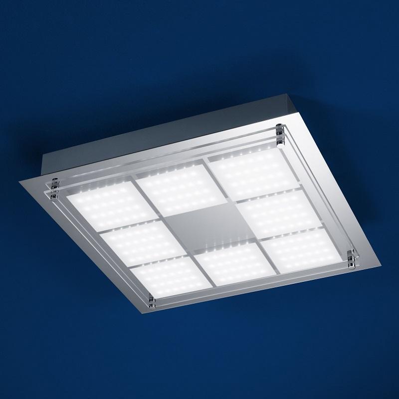 b leuchten quadratische led deckenleuchte 37 x 37 cm wohnlicht. Black Bedroom Furniture Sets. Home Design Ideas