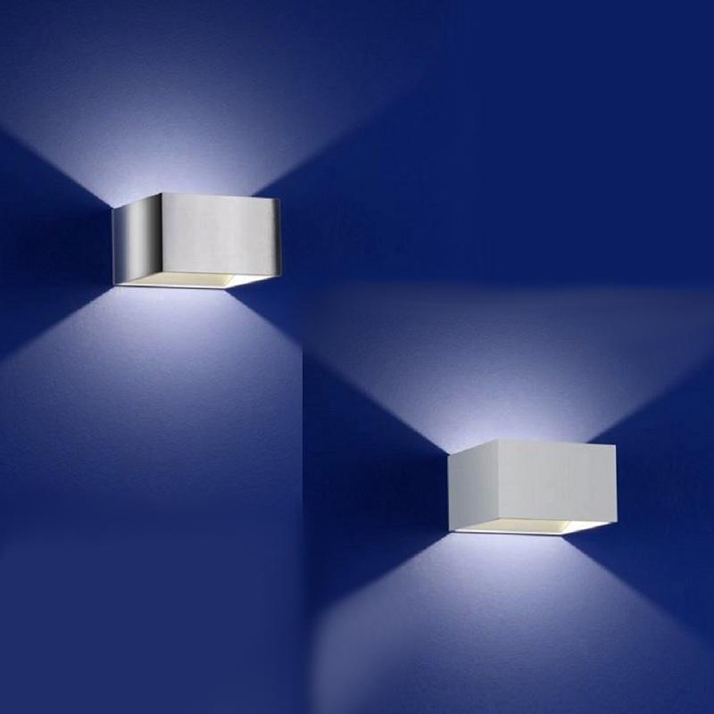 b leuchten quadratische led wandleuchte wohnlicht. Black Bedroom Furniture Sets. Home Design Ideas