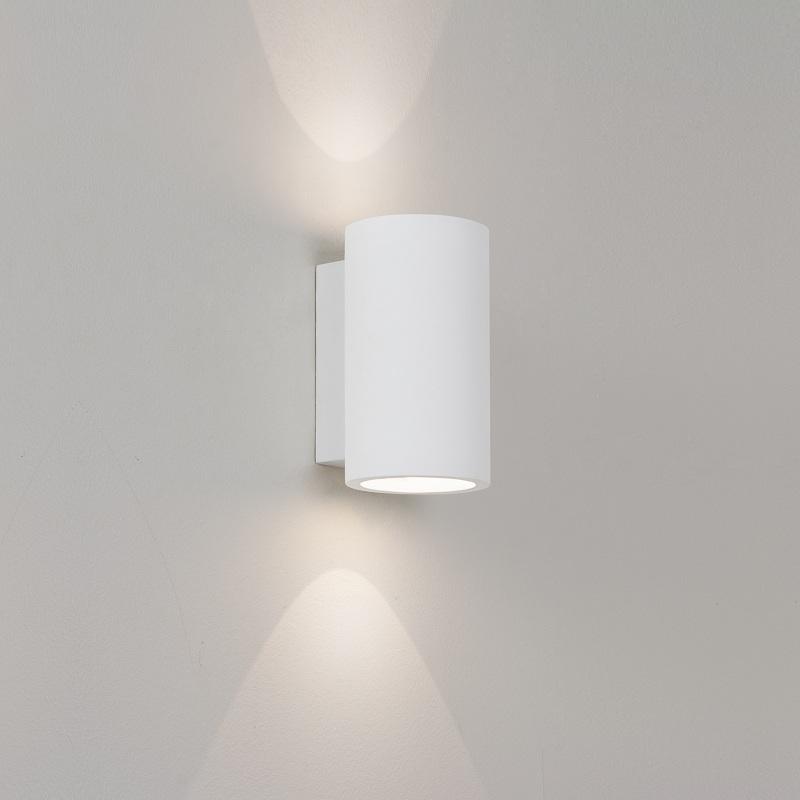 bologna led gipswandleuchte mit up down licht wohnlicht. Black Bedroom Furniture Sets. Home Design Ideas
