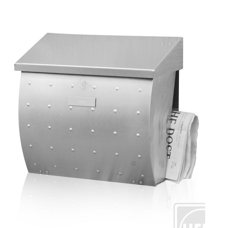 briefkasten mit zeitungsfach aus edelstahl wohnlicht. Black Bedroom Furniture Sets. Home Design Ideas