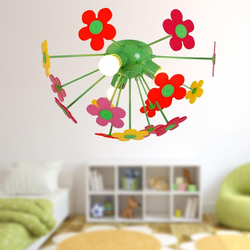 bunte kinderzimmer deckenleuchte blumenwiese wohnlicht. Black Bedroom Furniture Sets. Home Design Ideas