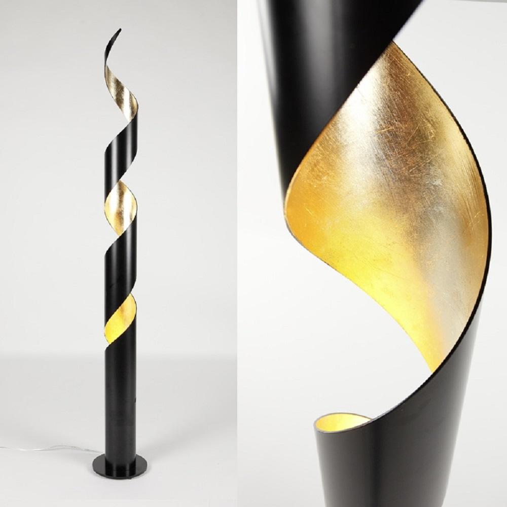charismatische stehleuchte innen gold au enfarbe schwarz wohnlicht. Black Bedroom Furniture Sets. Home Design Ideas