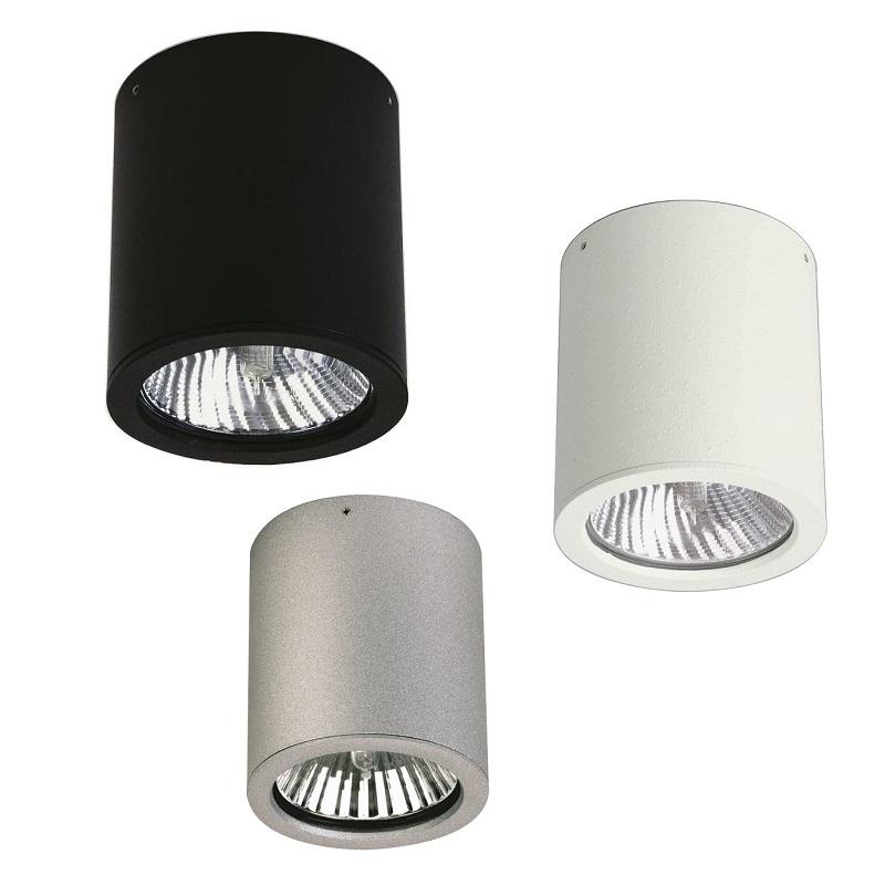 deckenaufbauleuchte aus aluminiumguss in 3 farben. Black Bedroom Furniture Sets. Home Design Ideas