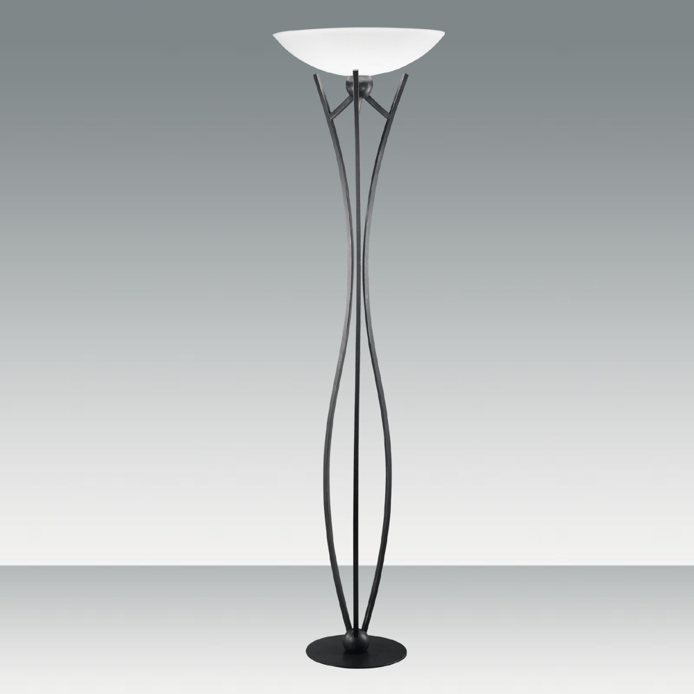deckenfluter landhausstil 1 flg dimmer schiefergrau schiefer glas wohnlicht. Black Bedroom Furniture Sets. Home Design Ideas