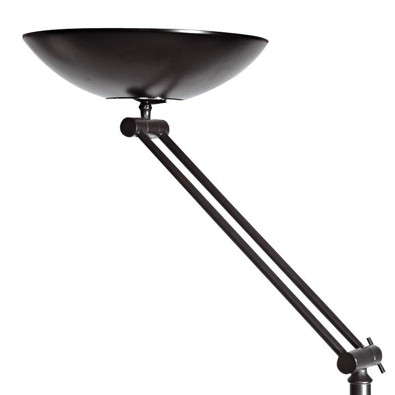 deckenfluter mit gelenkarm stahl beschichtet schwarz inklusive r7s 230watt leuchtmittel. Black Bedroom Furniture Sets. Home Design Ideas