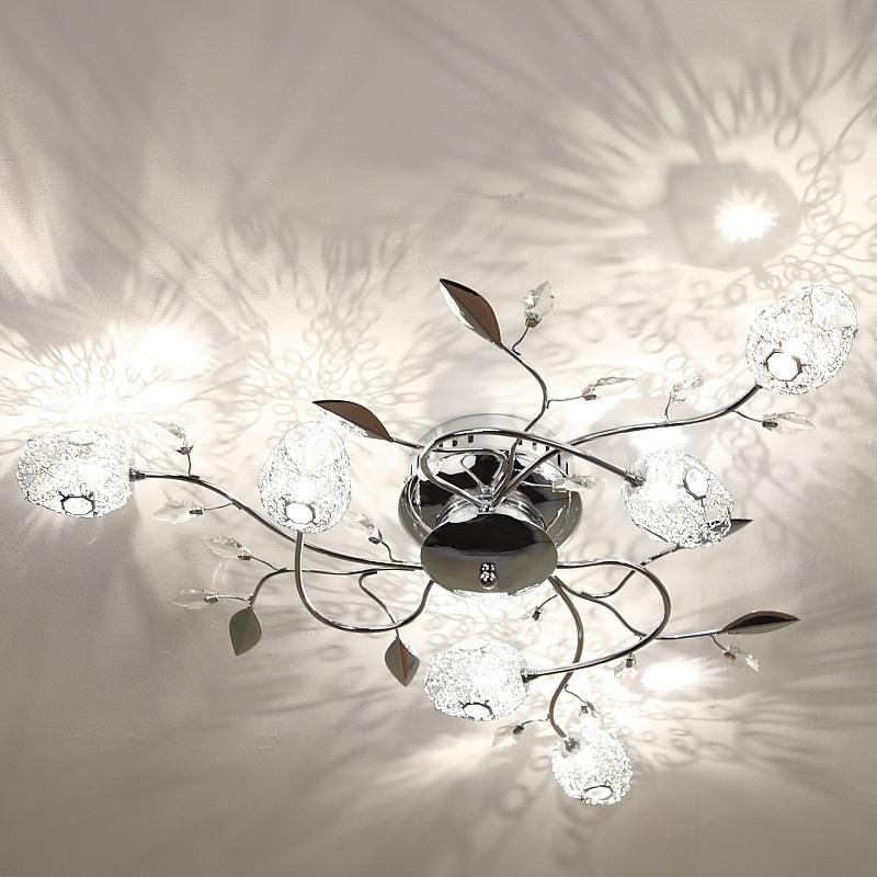 deckenlampe in chrom mit tulpen aus drahtgeflecht wohnlicht. Black Bedroom Furniture Sets. Home Design Ideas