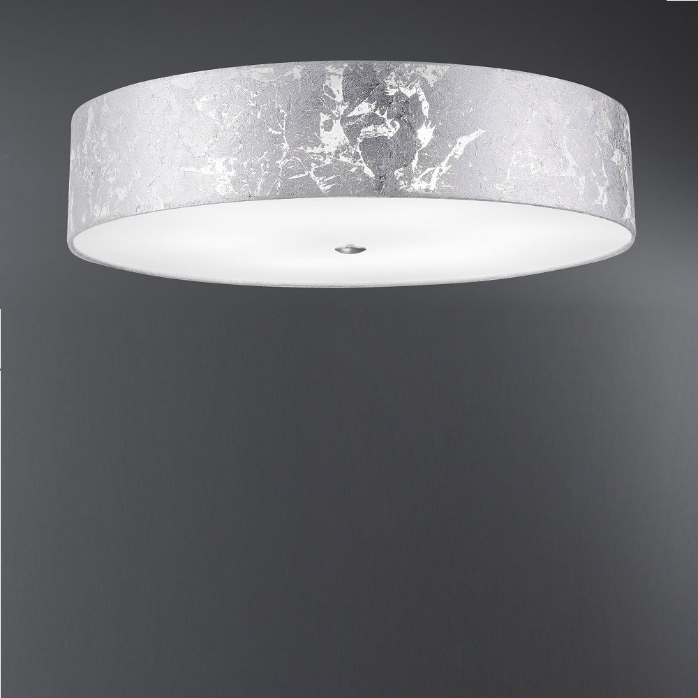 deckenleuchte alea schirm blattsilber 60 cm wohnlicht. Black Bedroom Furniture Sets. Home Design Ideas