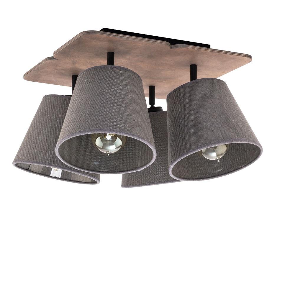 deckenleuchte awinion 4 flammig wohnlicht. Black Bedroom Furniture Sets. Home Design Ideas
