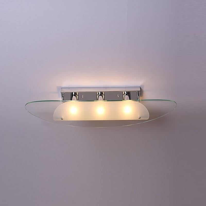 deckenleuchte in chrom mit glas satiniert und klar breite 80cm wohnlicht. Black Bedroom Furniture Sets. Home Design Ideas