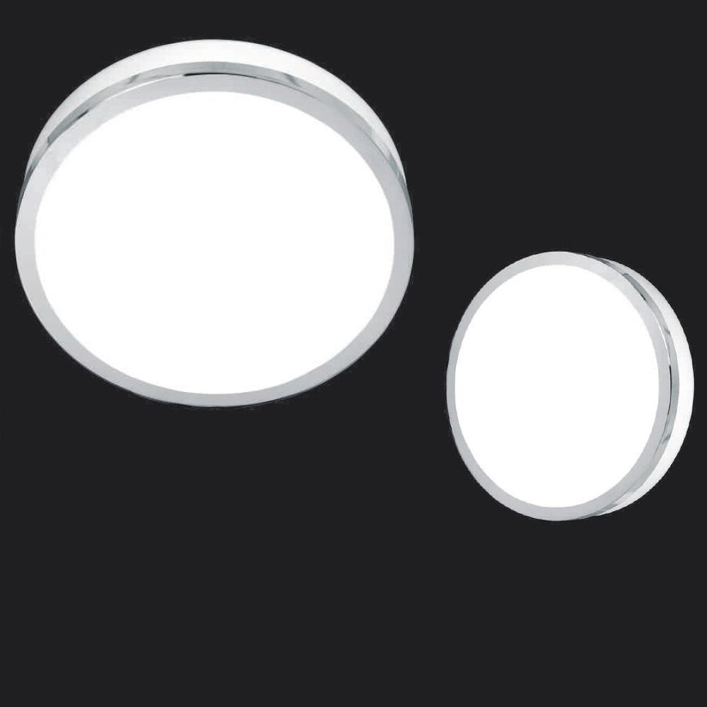 deckenleuchte flush chrom rund glas wei 3 gr en wohnlicht. Black Bedroom Furniture Sets. Home Design Ideas