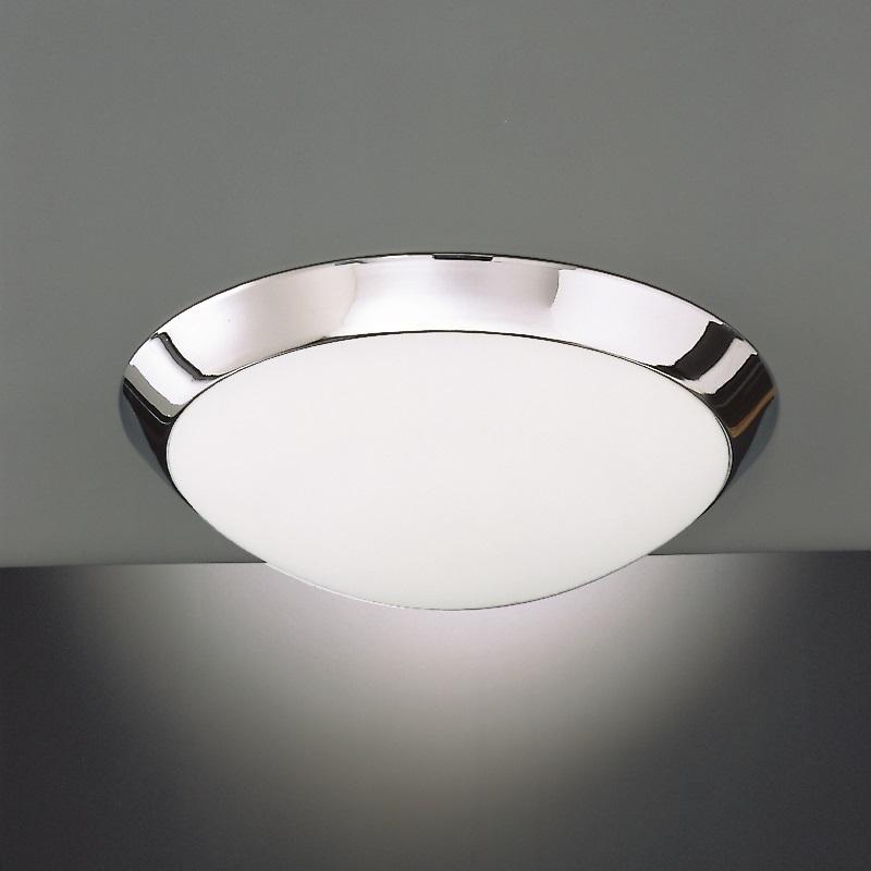 deckenleuchte glas opal mit rand chrom 2 gr en wohnlicht. Black Bedroom Furniture Sets. Home Design Ideas
