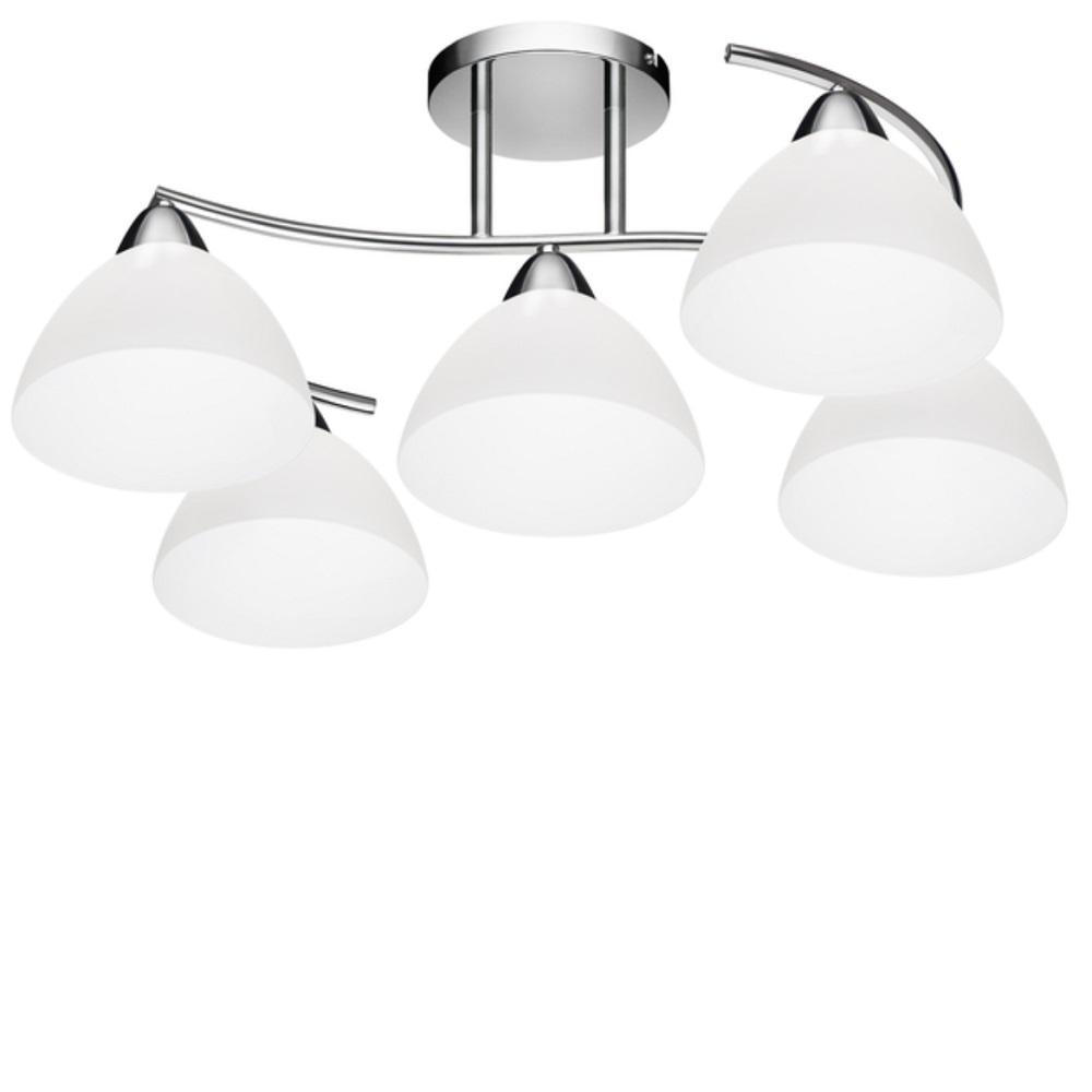 deckenleuchte kina chrom glas 5 flammig 5x 40 watt 56 00 cm wohnlicht. Black Bedroom Furniture Sets. Home Design Ideas