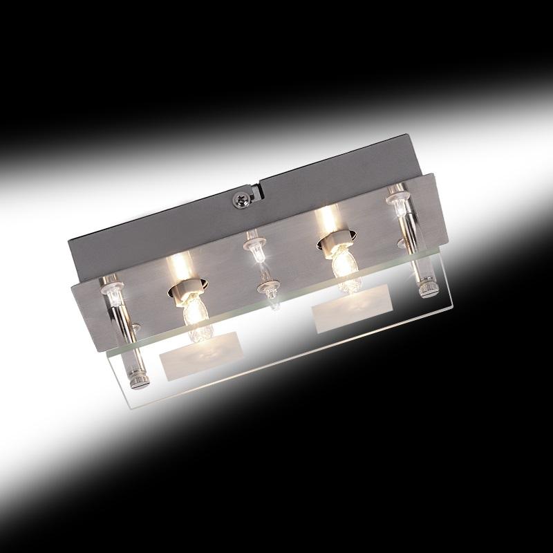 deckenleuchte kombiniertes halogen und led licht wohnlicht. Black Bedroom Furniture Sets. Home Design Ideas