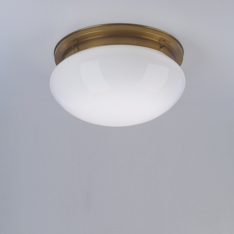 Deckenleuchte mit opalglas 41 cm in berliner messing for Deckenleuchte messing dimmbar