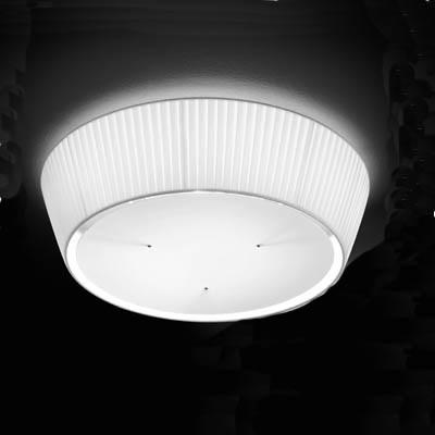 deckenleuchte mit plissee stoffschirm 40 cm weiss wei wohnlicht. Black Bedroom Furniture Sets. Home Design Ideas