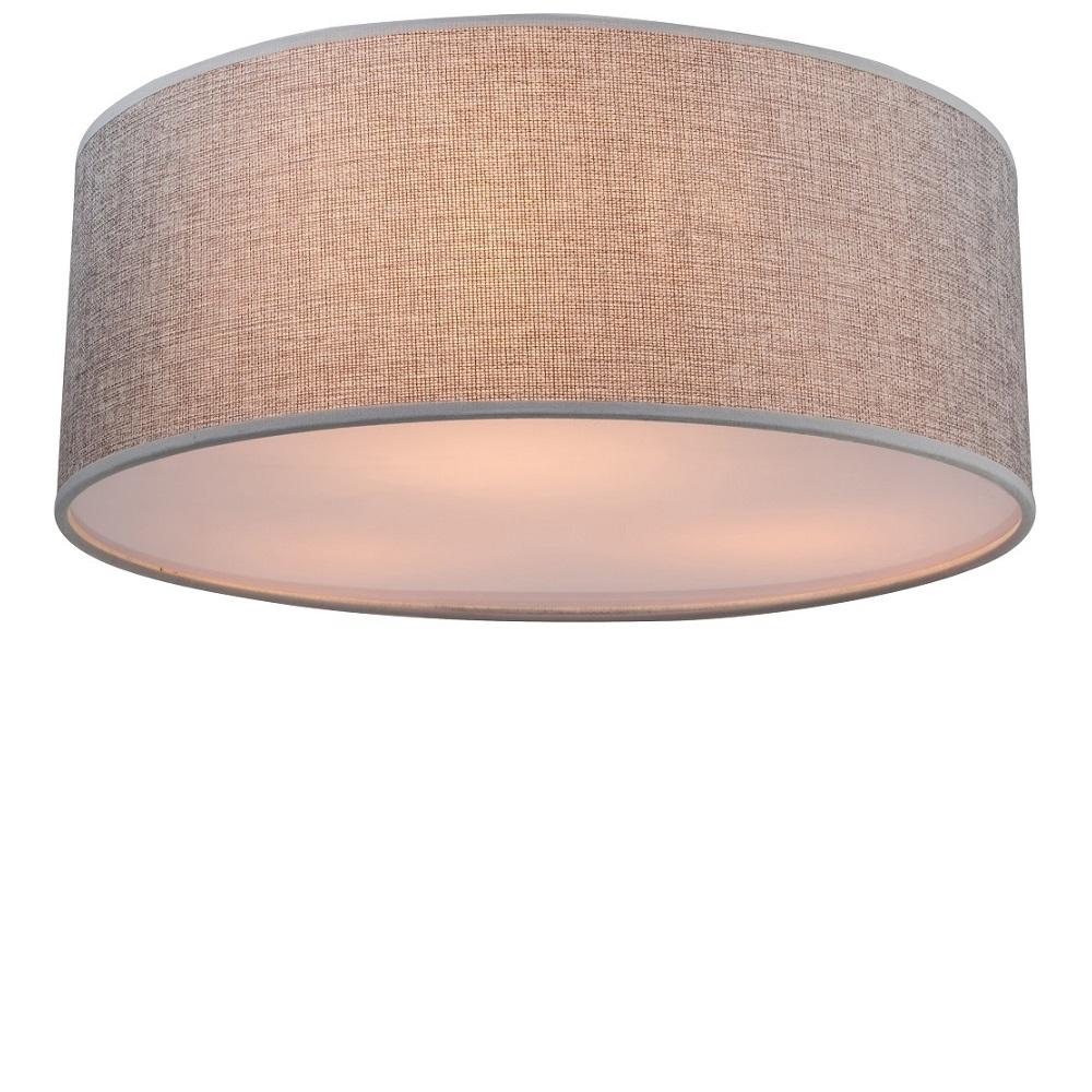 Deckenleuchte paco mit stoffschirm grau 40 cm wohnlicht for Deckenleuchte grau
