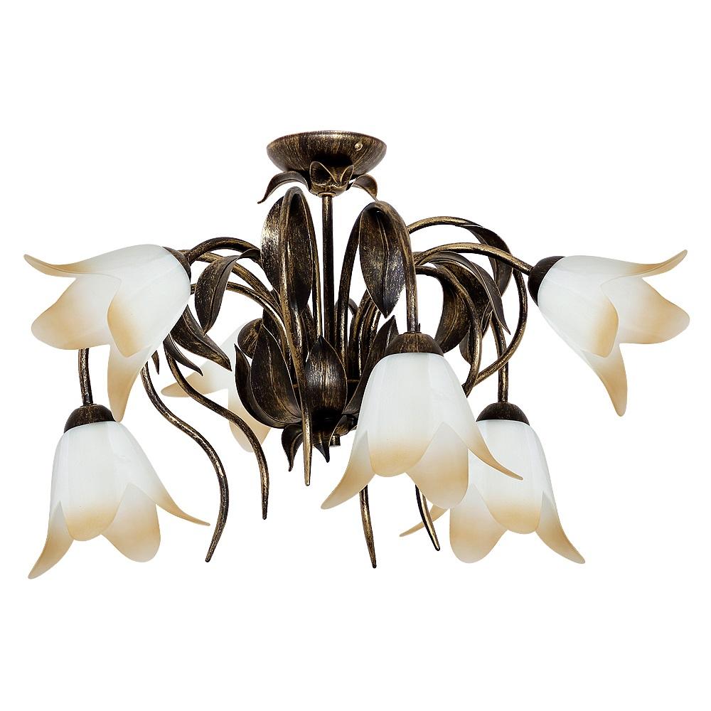 deckenleuchte palm 6 flammig 6x 60 watt 6 flammig wohnlicht. Black Bedroom Furniture Sets. Home Design Ideas