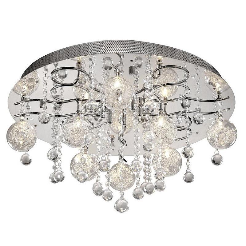 deckenleuchte rund mit kristallbehang fernbedienung wohnlicht. Black Bedroom Furniture Sets. Home Design Ideas