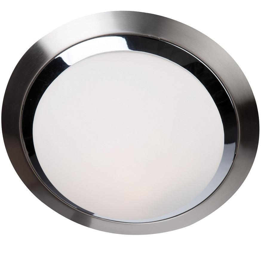 deckenleuchte rund stahl geb rstet chrom 26 cm 1x 60 watt 26 00 cm wohnlicht. Black Bedroom Furniture Sets. Home Design Ideas