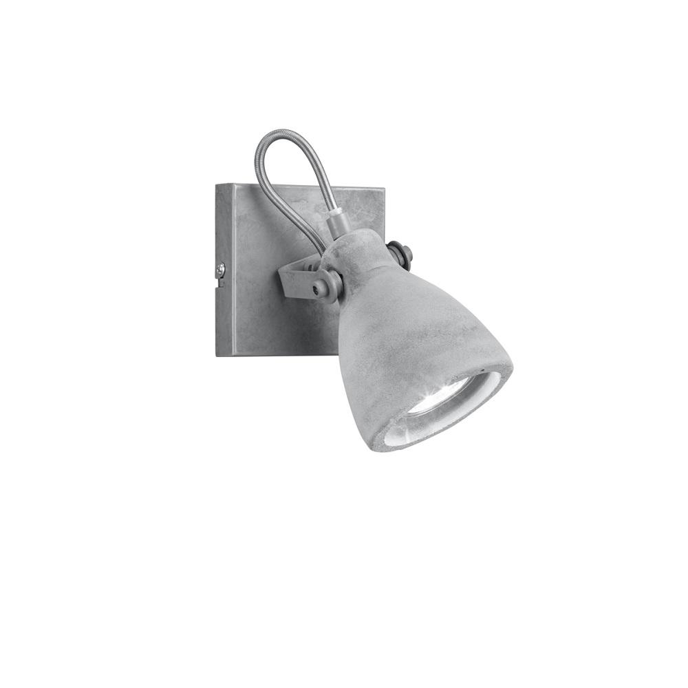 deckenstrahler concrete 1 flammig 1x 35 watt 10 00 cm wohnlicht. Black Bedroom Furniture Sets. Home Design Ideas