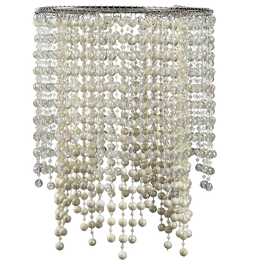 dekorativer lampenschirm chrom und kunststoff durchmesser 23 cm wohnlicht. Black Bedroom Furniture Sets. Home Design Ideas